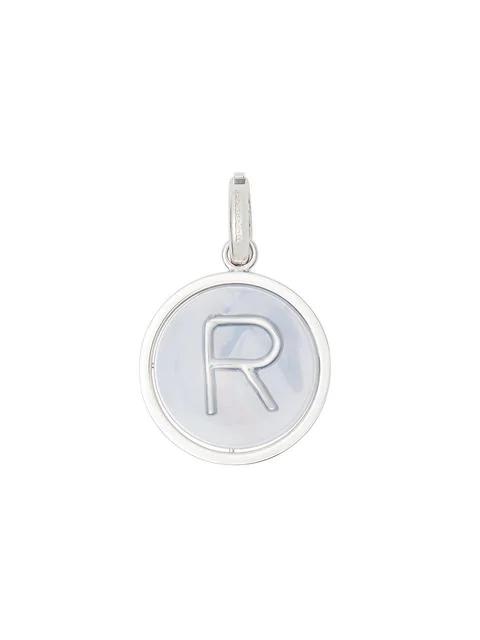 Burberry R 字母大理石纹树脂吊饰 In Metallic