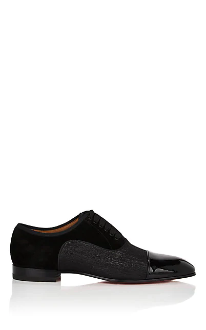 44c63be683a7 Christian Louboutin Greggo Orlato Patent-Leather Oxford Shoes In Black