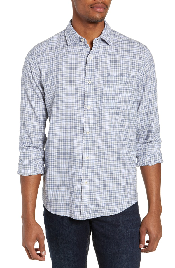 183dda2d Faherty Ventura Regular Fit Plaid Sport Shirt In Heather Grey Multi ...