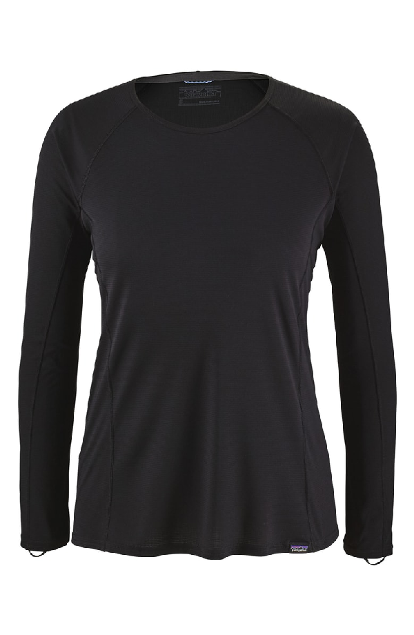 Patagonia Capilene Thermal Weight Long-Sleeve Tee In Black