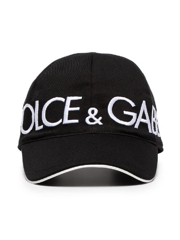 b7bdb3c3ea4f8 Dolce   Gabbana Black Patch Baseball Cap