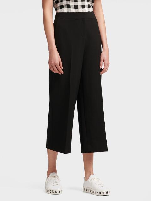 Donna Karan Cropped Wide Leg Pant In Black