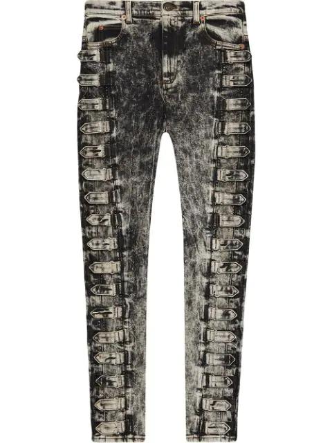 Gucci Denim Skinny Pant In Black