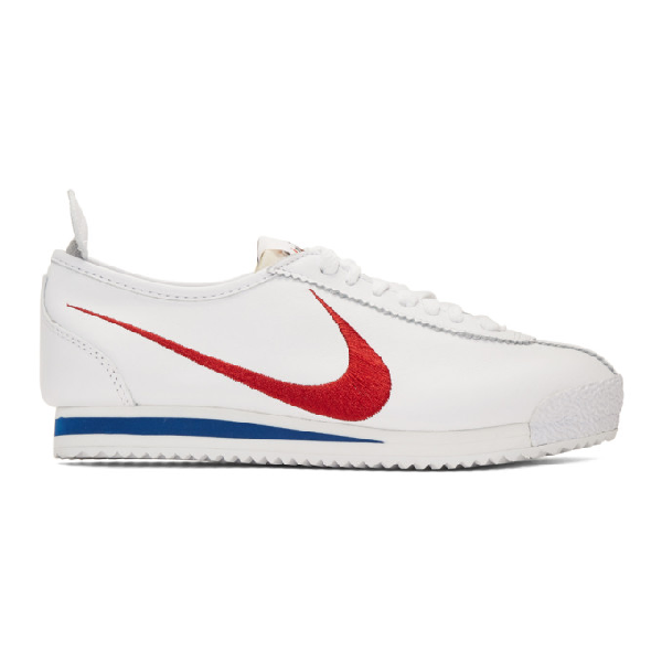 Nike Men's Cortez Basic Leather Og Casual Sneakers From Finish Line In 100 White