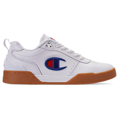 champion men's court classic casual shoes in white size 10