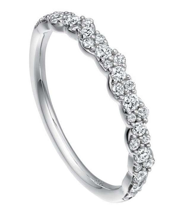 Astley Clarke White Gold Linia Interstellar Diamond Ring In White, Gold