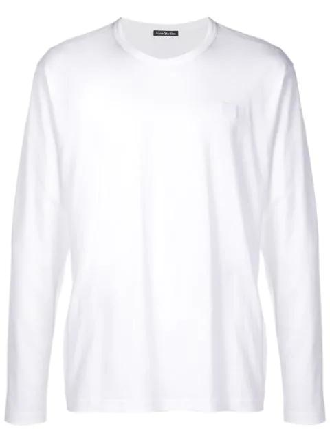 Acne Studios Long Sleeved T-shirt Optic White
