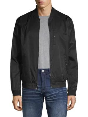 John Varvatos Classic Bomber Jacket In Black