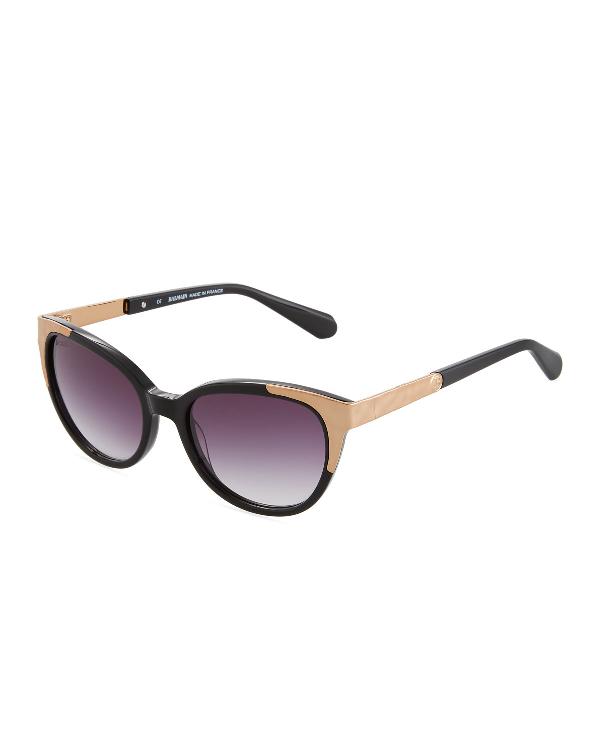 d4e1ddbc0876a Balmain Cat-Eye Acetate Metal Sunglasses In Black