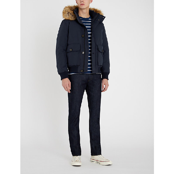 467a6ca34 Hampton Padded Cotton-Blend And Down-Blend Bomber Jacket in 413-Sky Captain
