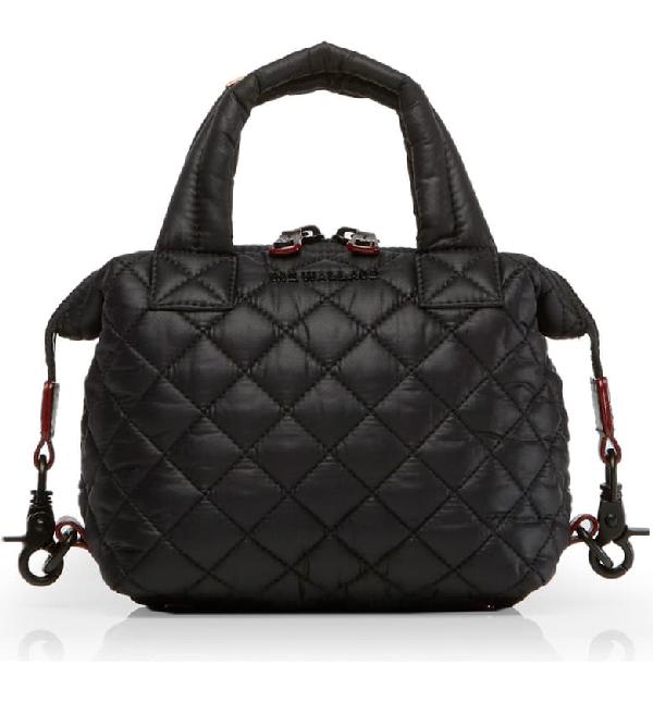 Mz Wallace Sutton Micro Lacquer Bag In Black