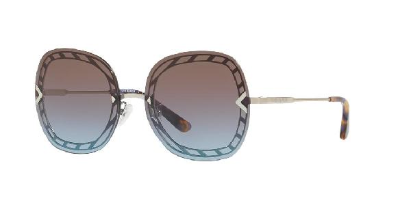 Tory Burch 58mm Gradient Square Sunglasses - Silver/ Purple Gradient In Brown