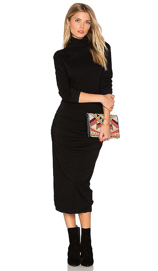 a407a4248654 James Perse Turtleneck Midi Dress In Black