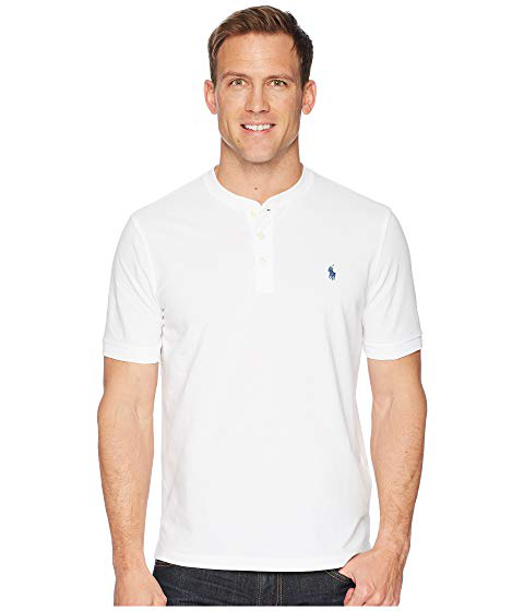 776f75c50 Polo Ralph Lauren Featherweight Mesh Short Sleeve Knit Henley, White ...