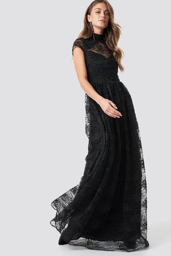 9972485a Na-Kd Lace High Neck Maxi Dress Black | ModeSens