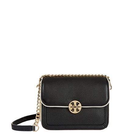 906900a7f6e Tory Burch Duet Chain Color Block Micro Shoulder Bag In Black