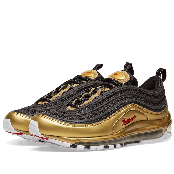 brand new 1661e 98b47 Men's Air Max 97 Qs Casual Shoes, Yellow/Black in Gold