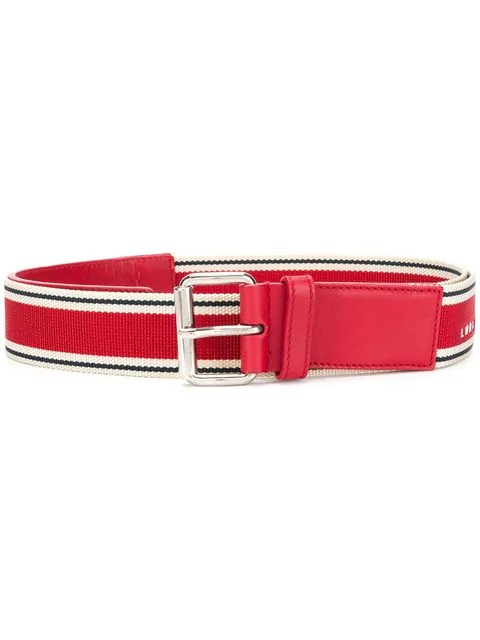 A.N.G.E.L.O. Vintage Cult Webbing Logo Belt In Red
