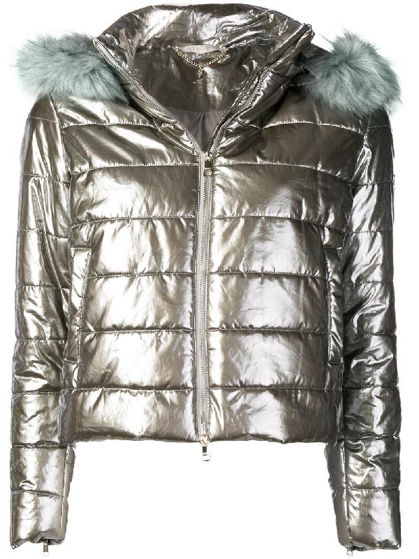 7edac16040 Liu •Jo Liu Jo Urban Inspiration Puffer Jacket - Silver | ModeSens