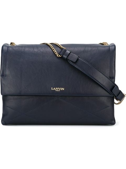 Lanvin 'Mini Sugar' Quilted Leather Flap Bag In Blue
