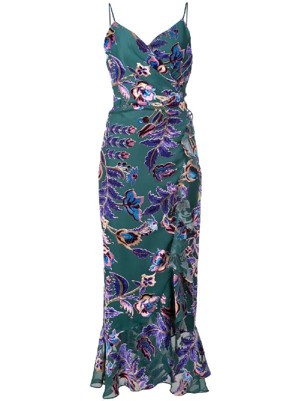 1d5084681bd79 Patbo Burnout Velvet Midi Dress In Teal In Green | ModeSens