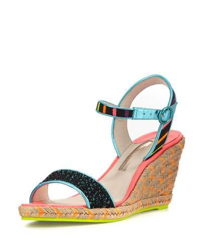 09d60b1616d Lucita Multicoloured Espadrille Wedge Sandals in Black