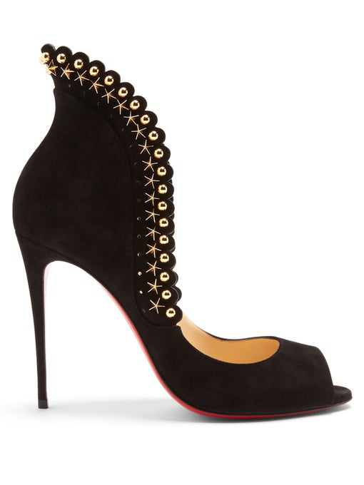 72c5187b3 Christian Louboutin Roucouloucou Studded Red Sole Pump, Black, Black/Silver
