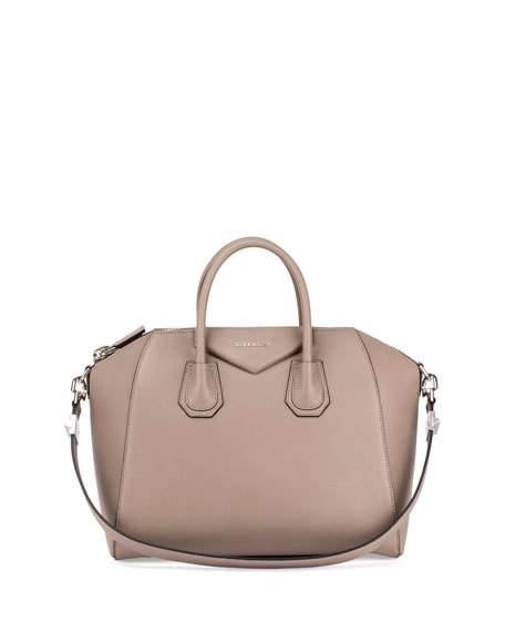 92593775f35 Givenchy Antigona Small Sugar Goatskin Satchel Bag, Khaki In Mastic ...