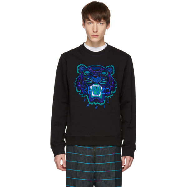 e804db74 Kenzo Black Limited Edition Holiday Tiger Sweatshirt In 99 - Black ...