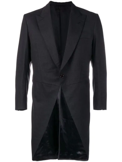 Pre-owned A.n.g.e.l.o. Vintage Cult 1960's Mid-length Tailcoat In Grey