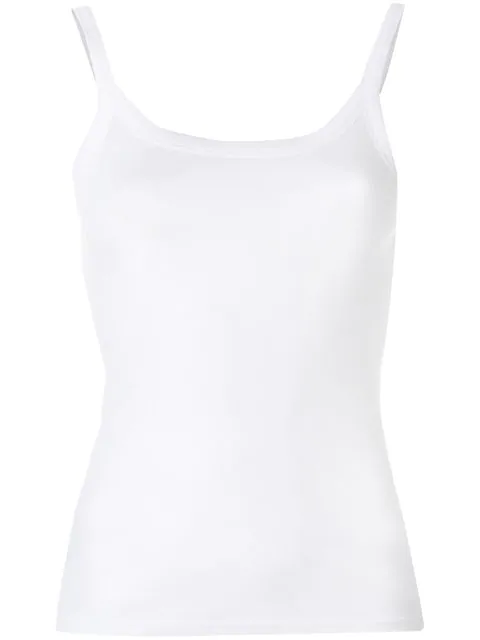 Vince Classic Fitted Tank Top In White