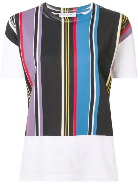 Jw Anderson Stripe Panel T In White