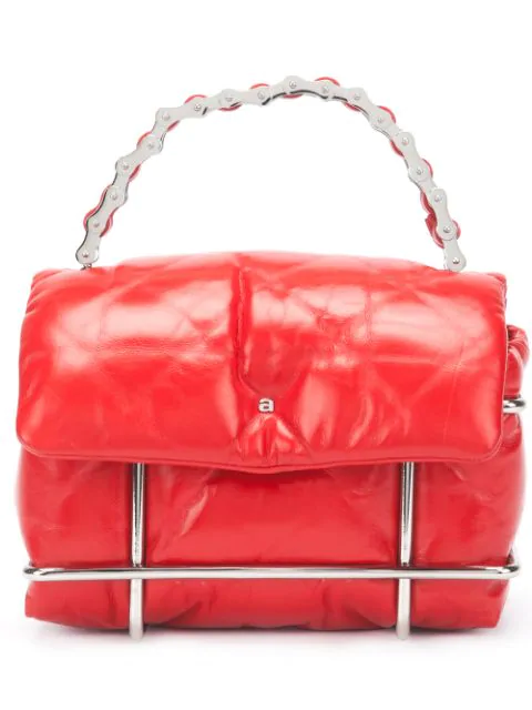 Alexander Wang Halo Quilted Leather Crossbody Bag In Red