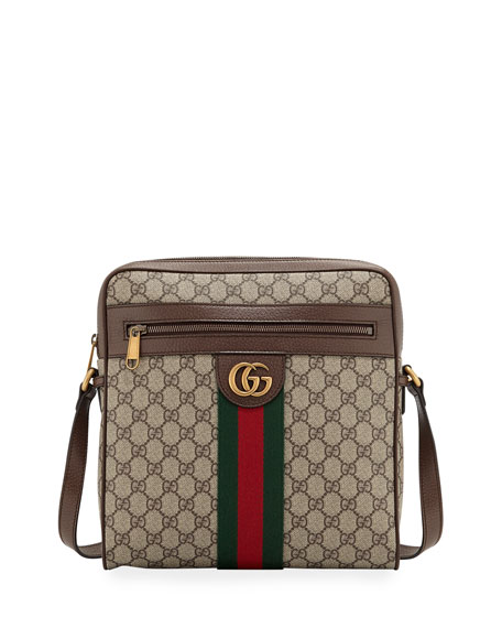61dce1c1924 Gucci Men s Gg Supreme Medium Messenger Bag In Beige