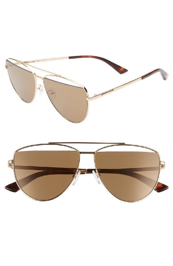 a9b31e124c Mcq By Alexander Mcqueen Mcq Alexander Mcqueen Women s Brow Bar Aviator  Sunglasses