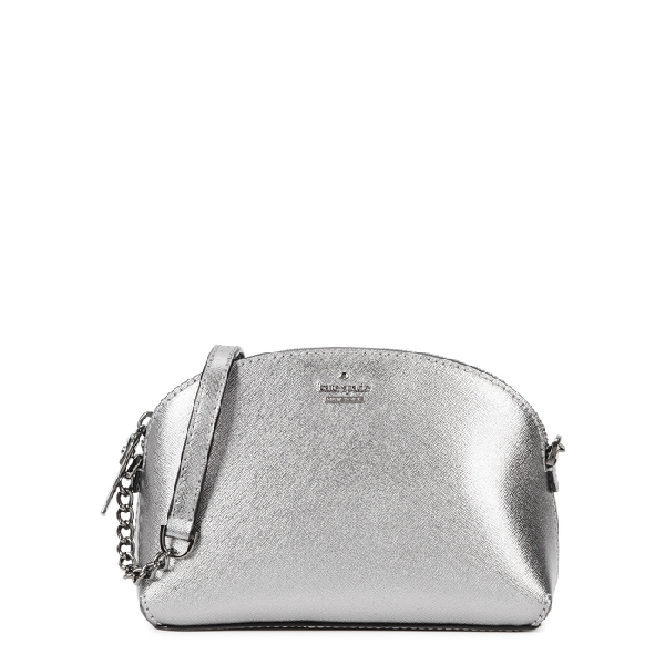 Kate Spade Cameron Street Hilli Leather Cross-Body Bag In Silver