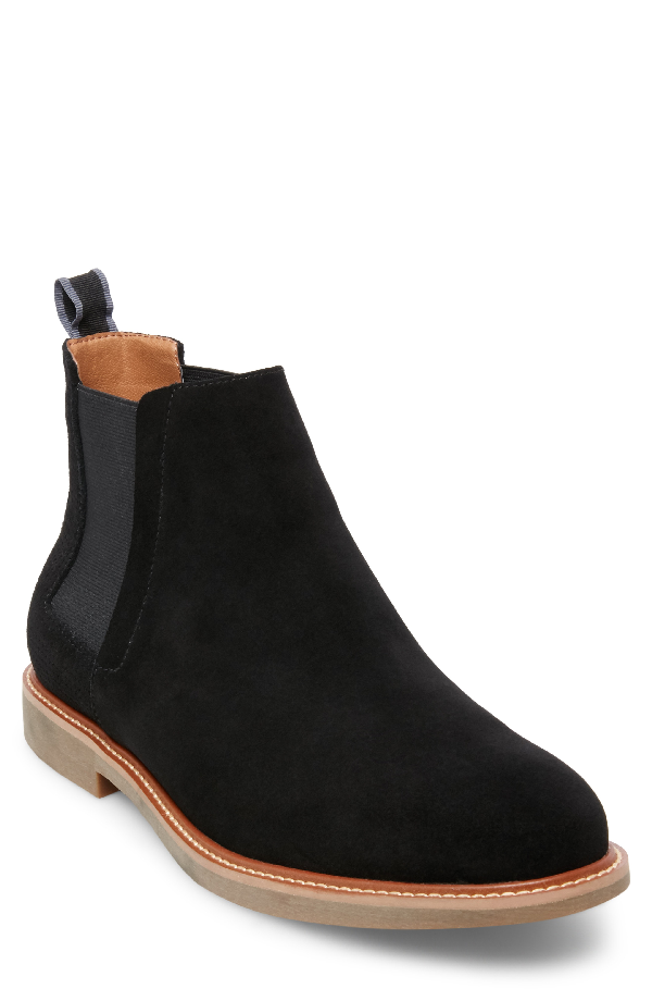 4183296ccc2 Highlyte Textured Chelsea Boot in Black Suede