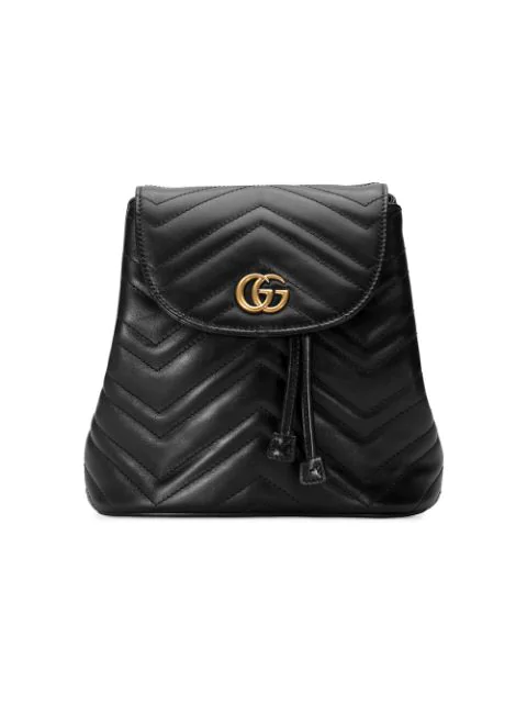Gucci Gg Marmont 2.0 MatelassÉ Leather Mini Backpack In Black