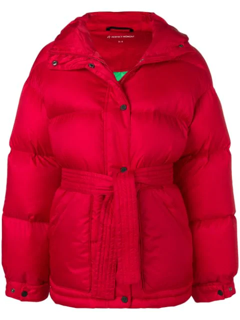 Perfect Moment Oversized Parka Jacket In Red