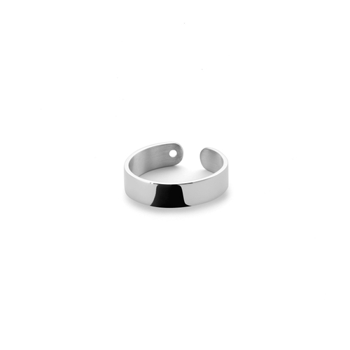 Ekria Timeless Duo Ring Shiny White Gold