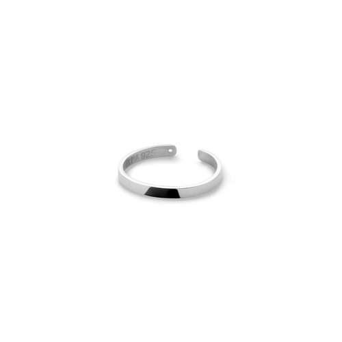 Ekria Timeless Unus Midi Ring Shiny White Gold