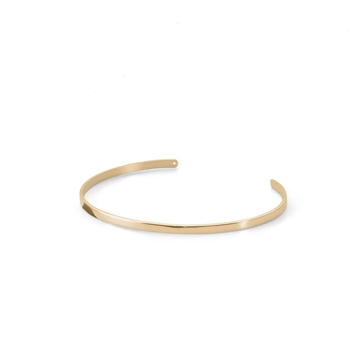 Ekria Timeless Unus Cuff Shiny Yellow Gold