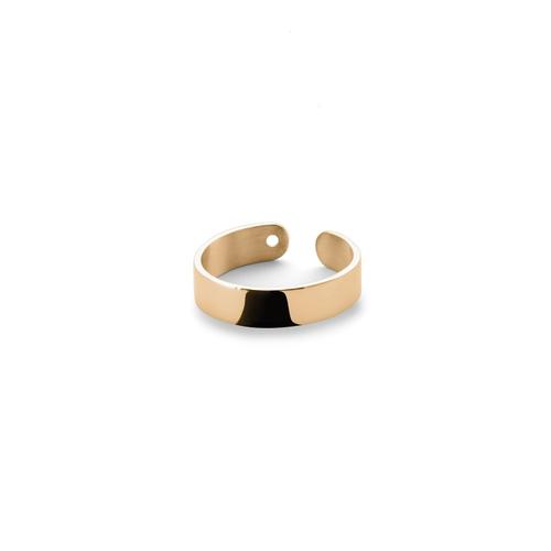 Ekria Timeless Duo Midi Ring Shiny Yellow Gold