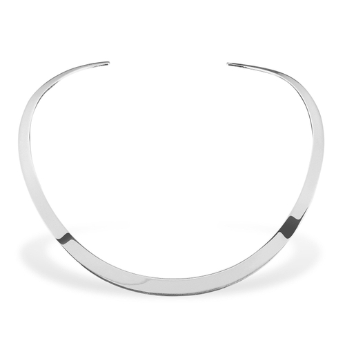 Ekria Timeless Duo Necklace Shiny White Gold