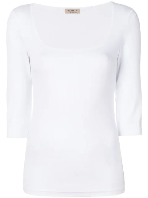Blanca Ribbed T-shirt In White