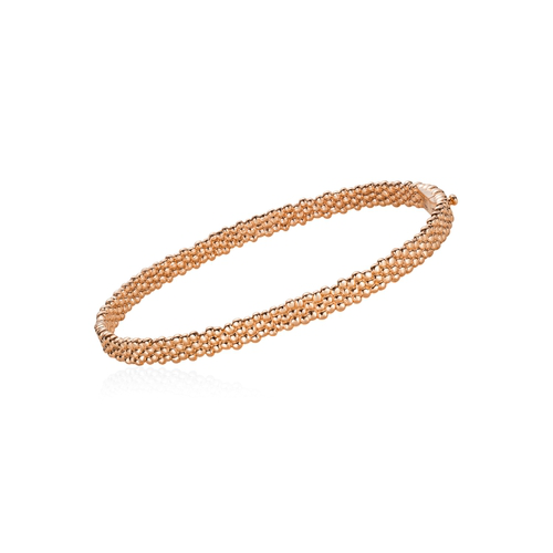 Julien Riad Sahyoun Skinny Bracelet In Rose Gold