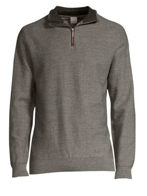 new style 0dfb5 5164b Quarter Zip Sweater in Grey
