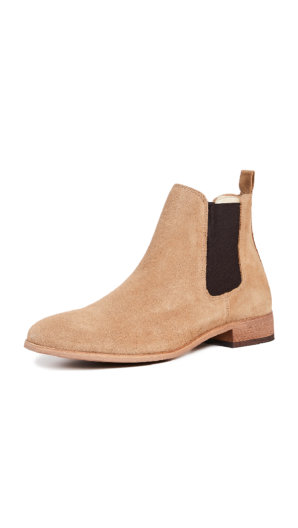 c345e5b4ece Dev Suede Chelsea Boots in Sand
