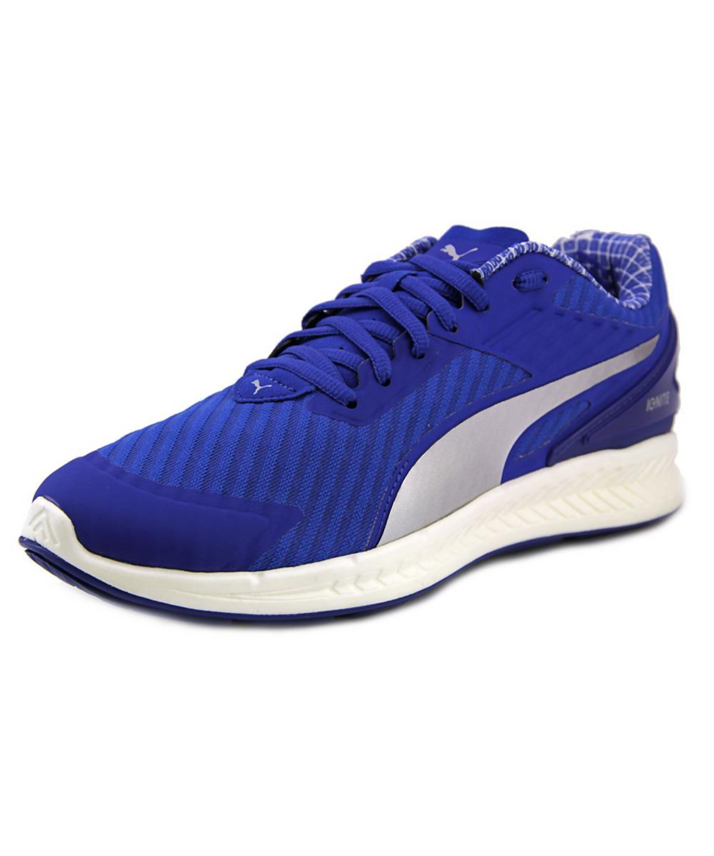 chaussures de sport 37aca a24ee Puma Ignite V2 Pwrcool Men Round Toe Canvas Blue Running Shoe'