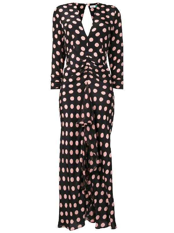 782bcab3838c Rixo London Adriana Ruffled Polka-Dot Silk-Crepe Midi Dress In Black